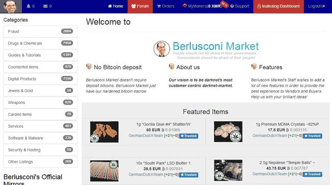 Berlusocni Darknet Marketplace Review
